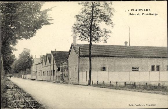 Ak Kloster Clairvaux Ville sous la Ferté Departement Aube, Usine du Pont Rouge