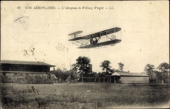 Ak Nos Aéroplanes, L'Aéroplane de Wilbur Wright, Biplan, Flugpionier