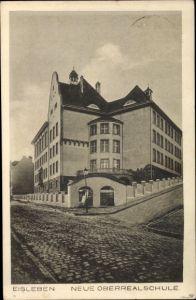 Ak Lutherstadt Eisleben in Sachsen Anhalt, Neue Oberrealschule