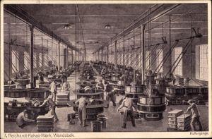 Künstler Ak Bollhagen, Otto, Hamburg Wandsbek, Reichardt Kakao Werk, Kollergänge, Fabrikarbeit