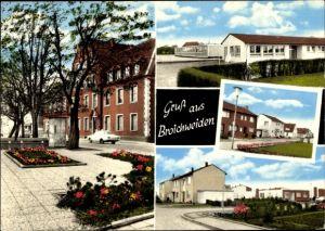 Ak Broichweiden Würselen Nordrhein Westfalen, Straßenpartie, Blumenbeete, Häuser