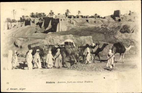 Ak Biskra Algerien, Ancien Fort au Rieux Biskra