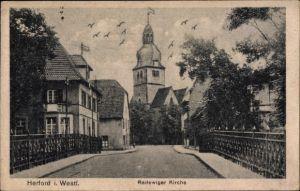 Ak Herford in Nordrhein Westfalen, Blick auf die Radewiger Kirche