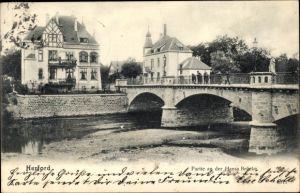 Ak Herford in Nordrhein Westfalen, Partie an der Hansabrücke