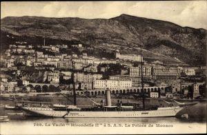 Ak Monte Carlo Monaco, le Yacht Hirondelle II. à S. A. S. le Prince de Monaco