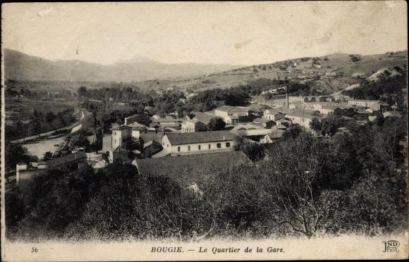 Ak Bougie Bejaia Algerien, Le Quartier de la Gare