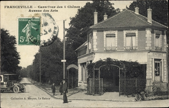 Ak Franceville Gabun, Carrefour des 4 Chênes, Avenue des Arts, Epicerie