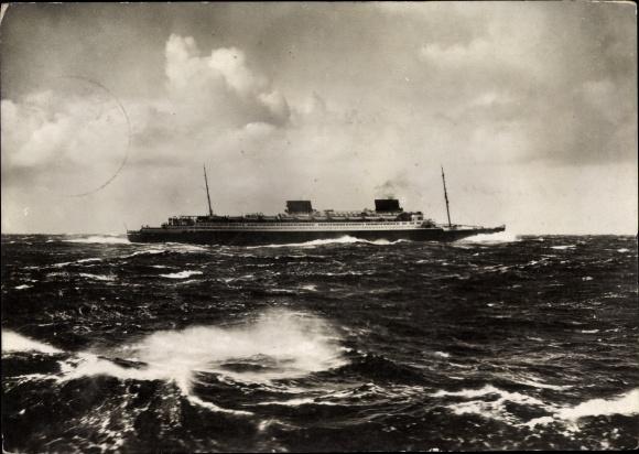 Ak Dampfschiff Europa, Norddeutscher Lloyd Bremen, Stürmische See