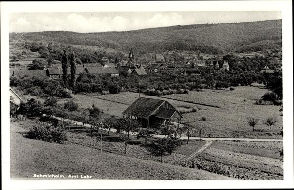 Ak Schmieheim Kippenheim im Ortenaukreis, Panorama der Ortschaft