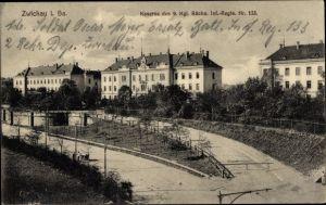 Ak Zwickau in Sachsen, Kaserne des 9. Kgl. Sächs. Inf Regt Nr 133