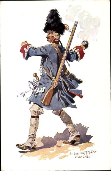 Künstler Ak Hoffmann, Anton, 7. Infanterie Regiment Prinz Leopold, Regiment Prinz Josef Ludwig