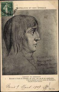 Künstler Ak Napoleon Bonaparte, Kaiser Napoleon I., Portrait, Profilansicht