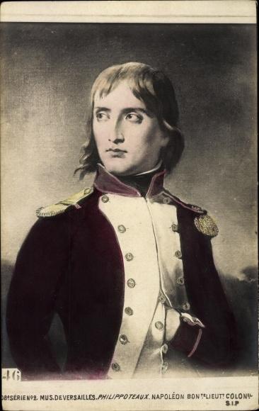 Künstler Ak Philippoteaux, Napoleon Bonaparte, Kaiser Napoleon I., Portrait