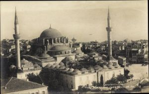 Ak Konstantinopel Istanbul Türkei, Vue panoramique de la Mosquée Bayazid