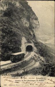 Ak Salève Haute Savoie, Chemin de Fer Electrique, Zahnradbahn, Tunnel