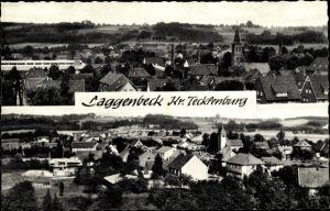 Ak Laggenbeck Ibbenbüren im Tecklenburger Land, Panoramaansichten von Ortschaft und Umgebung