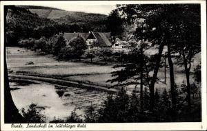 Ak Oesede Georgsmarienhütte in Niedersachsen, Panoramaansicht von Ortschaft und Umgebung