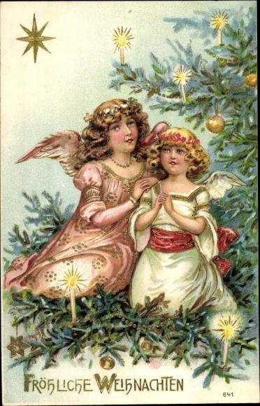 weihnachten weihnachtsbaum engel wappen 1905 27790. Black Bedroom Furniture Sets. Home Design Ideas