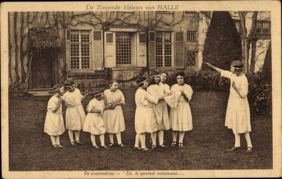 Ak Halle Flandern Flämisch Brabant, De Zingende Meisjes