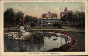Ak Oberhausen im Ruhrgebiet, Partie im Kaisergarten