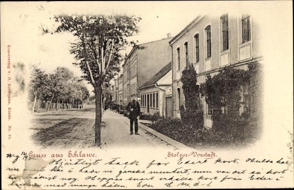 Ak Sławno Schlawe Pommern, Stolper Vorstadt