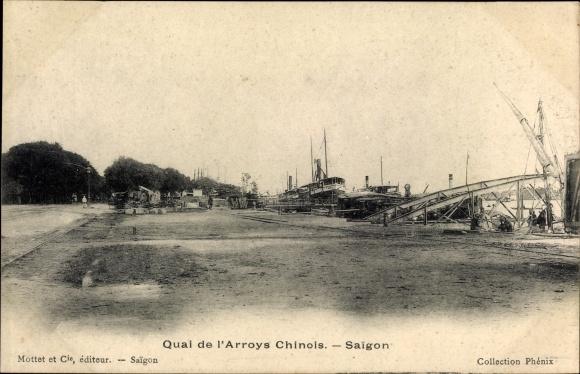 Ak Saigon Cochinchine Vietnam, Quai de l'Arroys Chinois