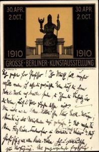 Künstler Ak Kallmorgen, Fr., Berlin, Große Berliner Kunstausstellung 1910, Pallas Athena