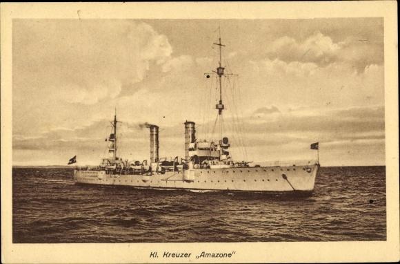 Ak Deutsches Kriegsschiff, Amazone, Kleiner Kreuzer, Reichsmarine