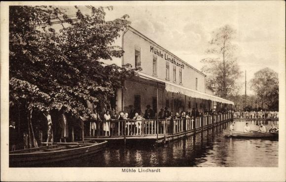 Ak Lindhardt Naunhof in Sachsen, Mühle Lindhardt, Bes. Ernst Schurk