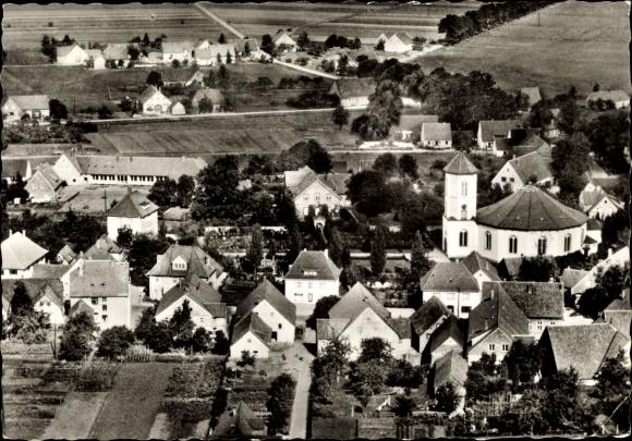 Ak Gesmold Melle in Niedersachsen, Fliegeraufnahme von der Ortschaft mit Umgebung