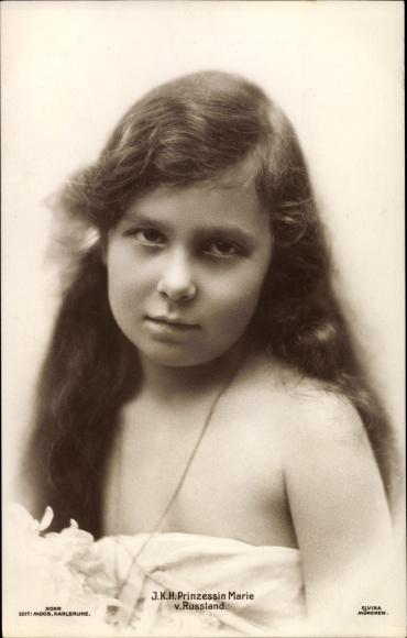 Ak Prinzessin Marie von Russland, Portrait