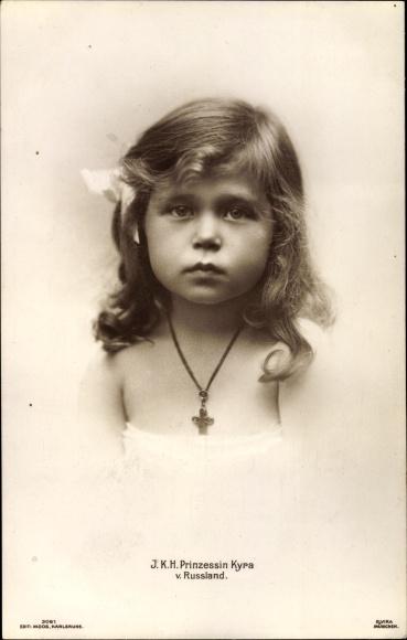 Ak Prinzessin Kyra von Russland, Portrait