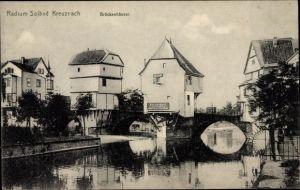 Ak Bad Kreuznach in Rheinland Pfalz, Blick auf die Brückenhäuser