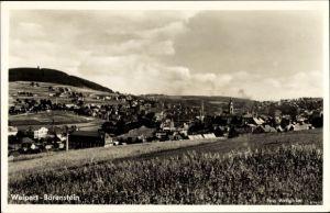 Ak Vejprty Weipert Region Aussig, Blick auf den Ort und Bärenstein im Erzgebirge, Sudetenland