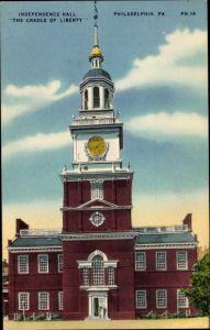 Ak Philadelphia Pennsylvania USA, Independence Hall, The Cradle of Liberty
