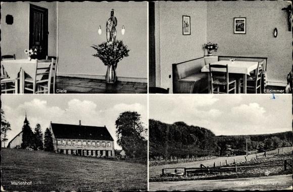 Ak Nottuln Westfalen, Marienhof in den Baumberge,, Blick auf das Säuglingsheim, Diele, Esszimmer