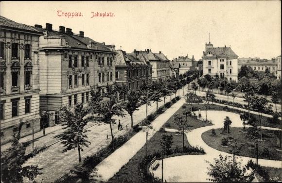 Ak Opava Troppau Reg. Mährisch Schlesien, Jahnplatz