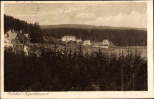Ak Elgershausen Schauenburg in Nordhessen, Waldhof Elgershausen, Panoramaansicht v. Ort u. Umgebung
