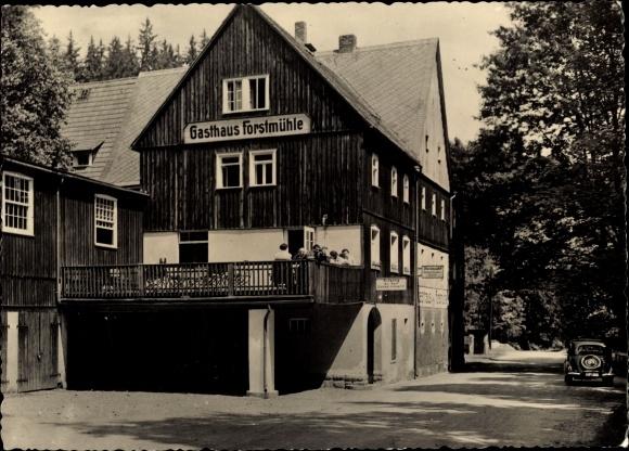 AK Kleingießhübel Reinhardtsdorf-Schöna in Sachsen, Gasthaus Forstmühle im Krippengrund