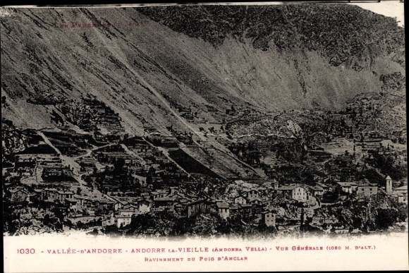 Ak Andorra la Vella Andorra, Vue générale, Panoramaansicht