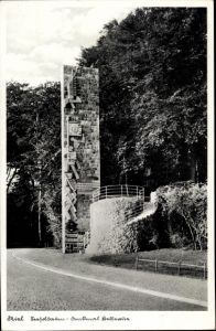 Ak Kiel in Schleswig Holstein, Seesoldaten Denkmal Bellevue