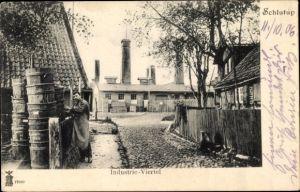 Ak Schlutup Lübeck in Schleswig Holstein, Industrieviertel, Fabrik