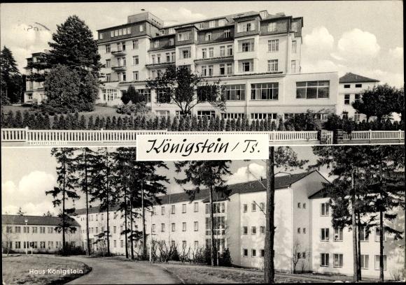 Ak Königstein im Taunus Hessen, Taunusheim, Haus Königstein, Gesamtansichten