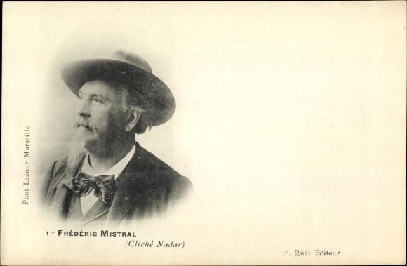 Ak Französischer Dichter Frédéric Mistral, Portrait, Lis Oulivado