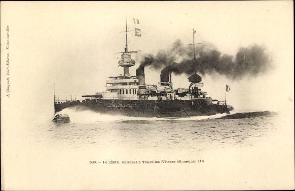 Ak Le Iéna, Cuirassé à Tourelles, Französisches Kriegsschiff