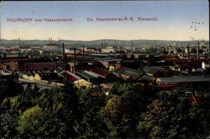 Ak Mulhouse Mülhausen Elsass Haut Rhin, vom Hasenrainturm, Els. Maschinenbau AG, Gießerei