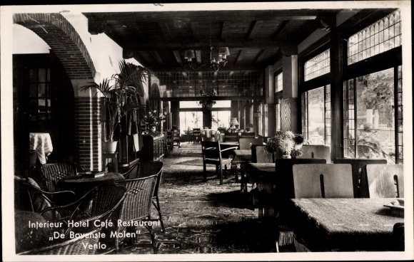 Ak Venlo Limburg Niederlande, Interieur Hotel Cafe Restaurant De ...