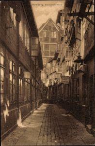 Ak Hamburg Mitte Altstadt, Blick in den Hof der Steinstraße 87, Stellenvermittler Karl Schulze