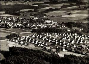 Ak Oesede Georgsmarienhütte Niedersachsen, Panoramaansicht von Kloster, Ort und Umgebung, Flugbild
