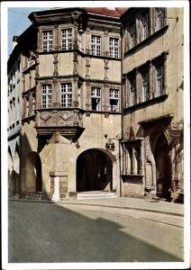 Ak Görlitz in der Lausitz, Schönhof, Teilansicht von der Straße aus, Renaissance